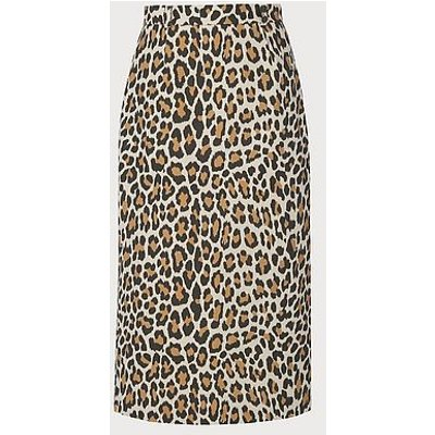 Giovanna Leopard Print Pencil Skirt, Multi