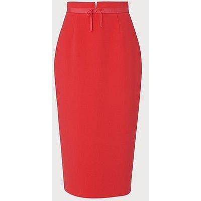 Rosamund Orange Pencil Skirt, Geranium