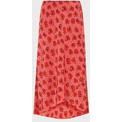 Simpson Poppy Print Silk Skirt, Poppy