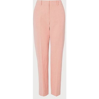 Sweetpea Pink Linen-Blend Trousers, Pale Pink