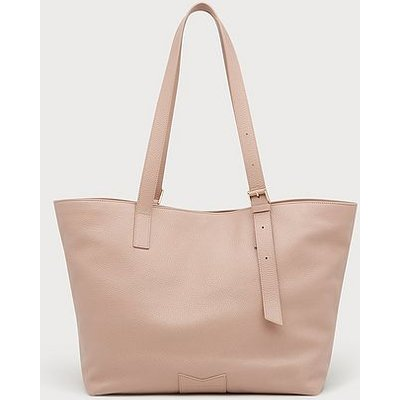 Leyla Clay Pink Leather Tote Bag, Clay