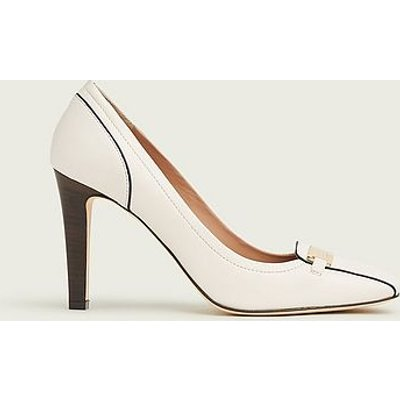 Franziska White Leather Courts, White