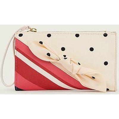 Delilah Stripe and Polka Dot Fabric Clutch, Multi