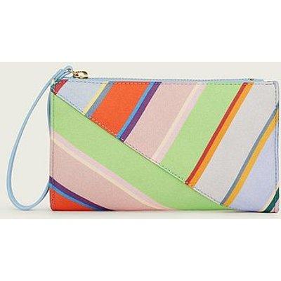 Dune Multi-Coloured Stripe Fabric Clutch, Multi