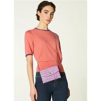 Mini Dora Lilac Tweed Envelope Clutch, Lilac