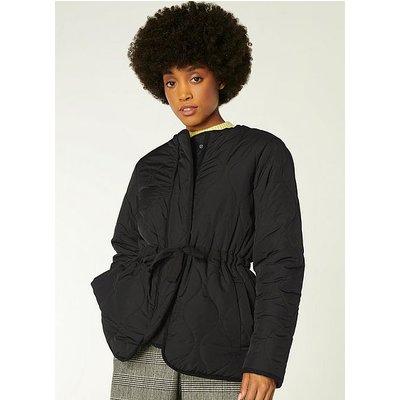 Rowan Black Quilted Jacket, Black