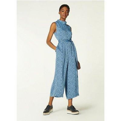Bancroft Blue Rope Print Jumpsuit, Multi