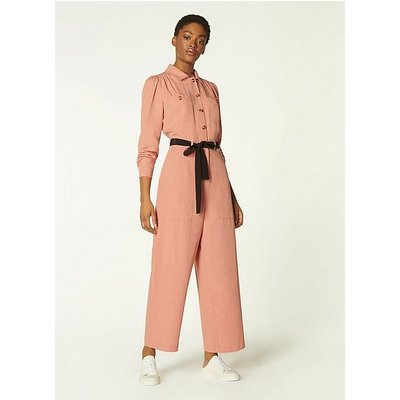 Cecil Pink Tencel-Linen Jumpsuit, Pale Rose
