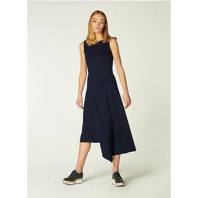 Cherie Navy Jersey Asymmetric Hem Dress, Midnight