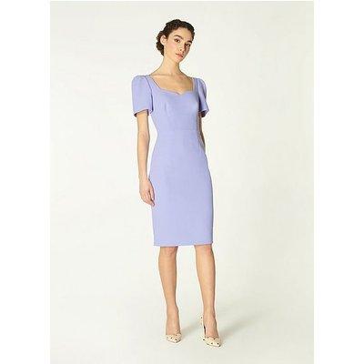 Dee Pale Blue Crepe Shift Dress, Blue