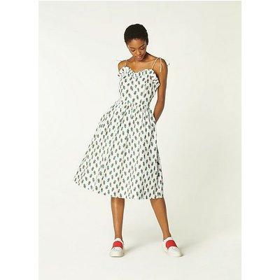 Frenchi English Rose Print Cotton Dress, White