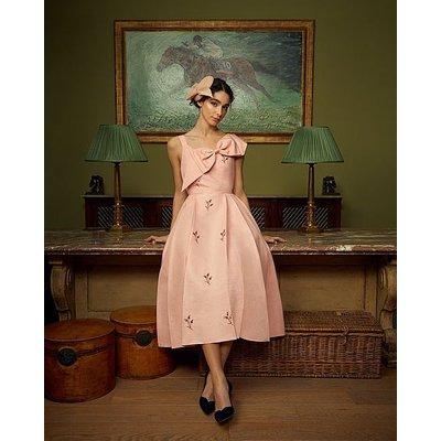 Jolene Pink Taffeta Beaded Dress, Rose
