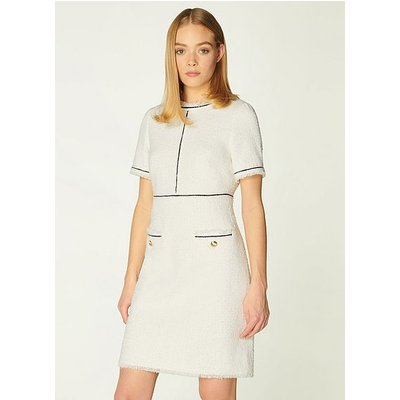Mercer Cream Tweed Shift Dress, Cream