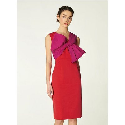 Sabella Red & Pink Bow Shift Dress, Red