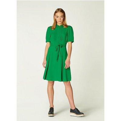 Shrimpton Green Crepe Tea Dress, Fern Green