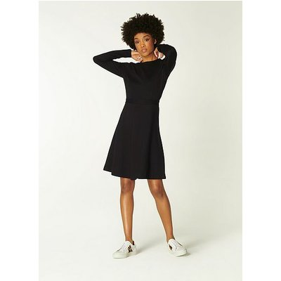 Stella Black Jersey Fit and Flare Dress, Black