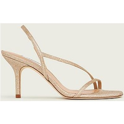 Neave Gold Glitter Strappy Sandals, Gold