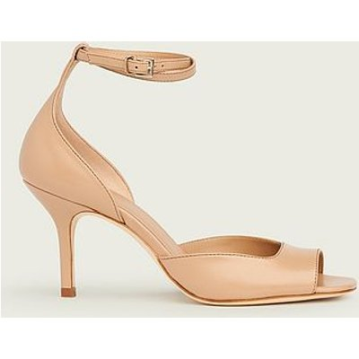Noreen Beige Leather Sandals, Trench