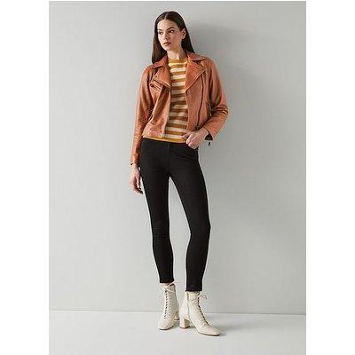 Cooper Tan Leather Biker Jacket, Tan