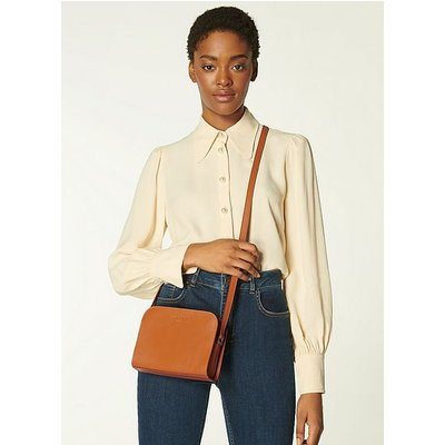 Marie Tan Leather Crossbody Bag, Tan
