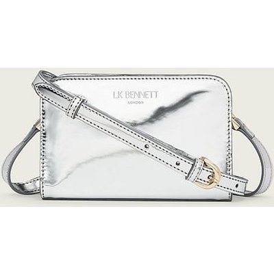 Mini Marie Silver Metallic Shoulder Bag, Silver