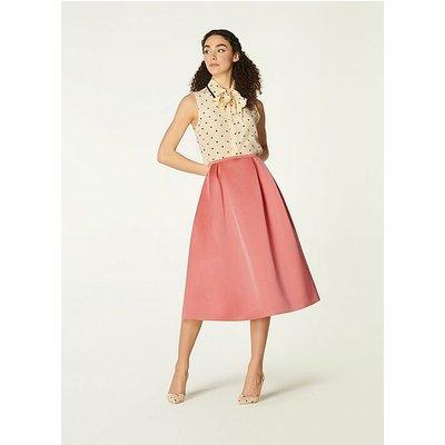 Biarritz Pink Satin Full Skirt, Lipstick Pink