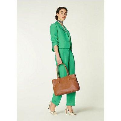 Lillian Tan Tumbled Leather Tote Bag, Tan