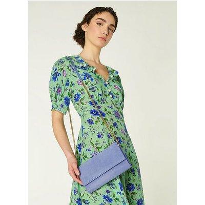 Dayana Blue Suede Clutch, Hyacinth