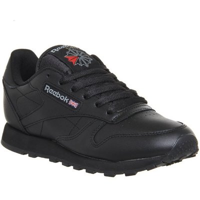 Reebok Classic Leather (w) BLACK LEATHER,White,Black