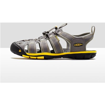 Men's Keen Clearwater CNX Leather Sandals - Yellow/Grey, Yellow/Grey