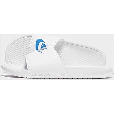 Nike Benassi Badelatschen - White/Royal Blue, White/Royal Blue
