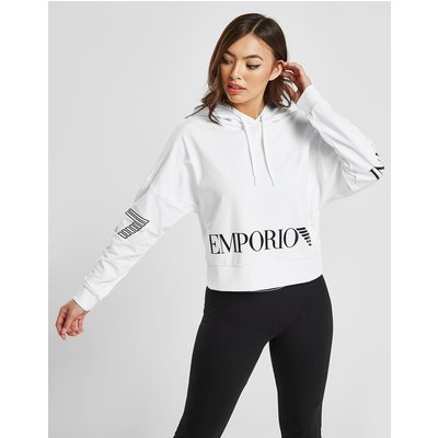 EMPORIO ARMANI EA7 Emporio Armani EA7 Overhead Crop Hoodie - Only at JD - Weiss - Womens, Weiss