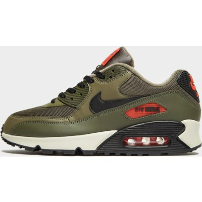 NIKE Nike Air Max 90 Essential Herren - Olive/Black/Orange - Mens, Olive/Black/Orange