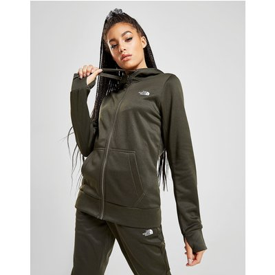 The North Face Surgent Full Zip Hoodie - Khaki Marl/White - Womens, Khaki Marl/White