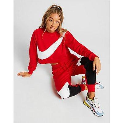 Nike Oversized Swoosh Logo Sweatshirt - Red, Red
