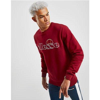 Ellesse Millenos Crew Sweatshirt - Burgundy - Mens, Burgundy