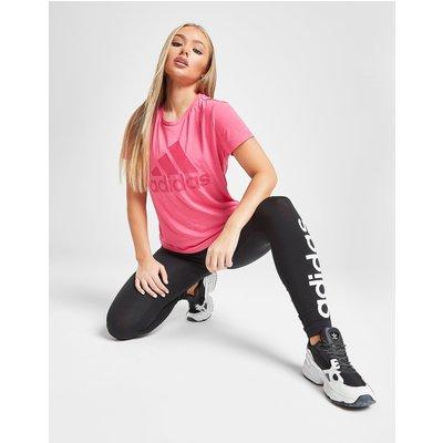adidas Logo T-Shirt - Pink - Womens, Pink