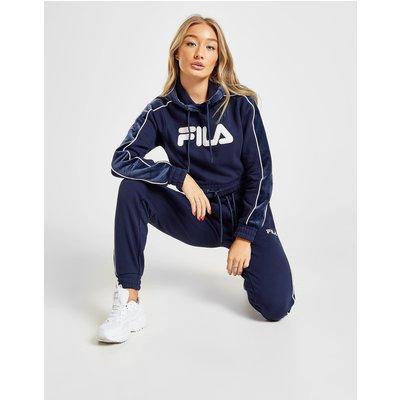 FILA Fila Velour Panel Crop Hoodie - Only at JD - Blau - Womens, Blau