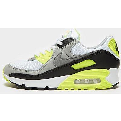 Nike Air Max 90 - White/Grey/Yellow - Mens, White/Grey/Yellow