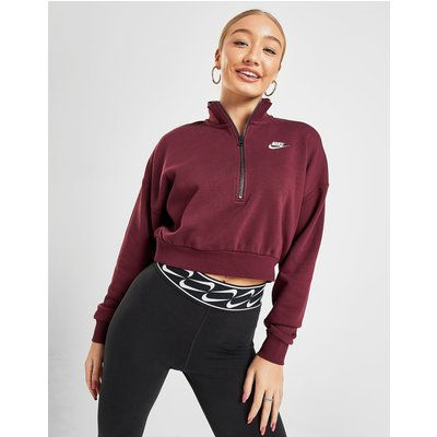 Nike Essential Crop Sweatshirt - Burgundy - Womens, Burgundy