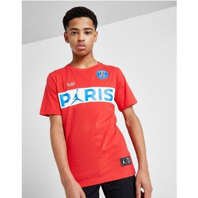 Jordan x Paris Saint Germain Wordmark T-Shirt Junior - Rood