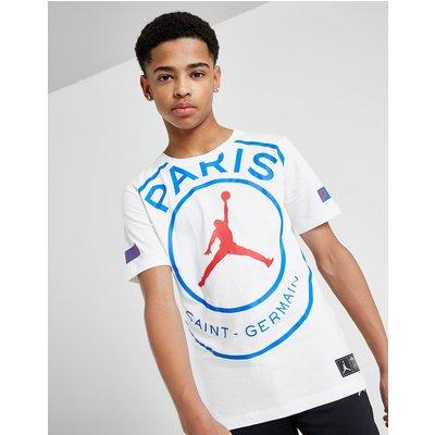 Jordan x Paris Saint Germain Logo T-Shirt Junior - Wit