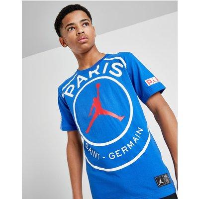 Jordan x Paris Saint Germain Logo T-Shirt Junior - Blauw
