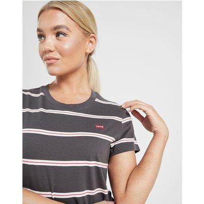 LEVI'S Levis Small Logo Stripe T-Shirt - Schwarz - Womens, Schwarz