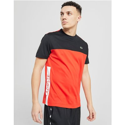 Lacoste Poly Panel T-Shirt - Rot - Mens, Rot