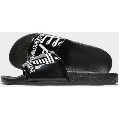 Emporio Armani EA7 Seaworld Slides - Black - Womens, Black