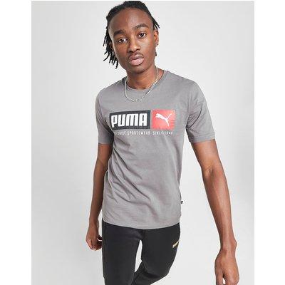 PUMA Box Logo T-Shirt - Grau - Mens, Grau