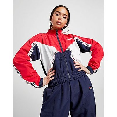 Fila Colour Block Jacke - Red, Red