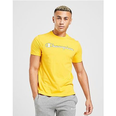Champion Core Script T-Shirt Heren - alleen bij JD - Yellow - Heren
