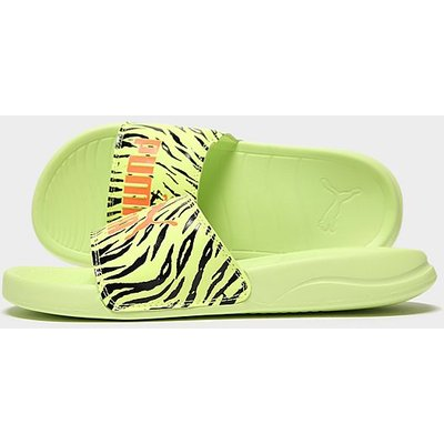 PUMA Popcat Slides - Yellow/Black, Yellow/Black